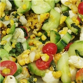 Fresh Tomato & Roasted Corn Salad