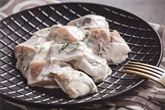 Pickled Herring Fillets in Sour Cream Sauce