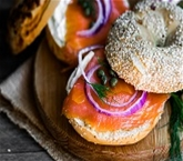 Smoked Salmon On A Mini Bagel