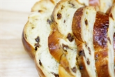 Round Challah With Raisin For The Holiday