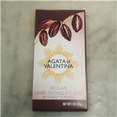 A&V Belgian Diced Almond Dark Chocolate Bar (3oz.)
