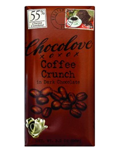 Chocolove Coffee Crunch Dark Chocolate Bar 3oz