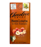 Chocolove Hazelnuts in Milk Chocolate Bar 3oz