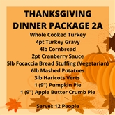 THANKSGIVING DINNER PACKAGE 2B