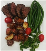 Hanger Steak with Roasted Potatoes & String Beans