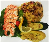 Large Steamed Shrimp, Cous Cous & Grilled Veggies