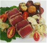 Seared Tuna with Roasted Potatoes & Fennel Salad