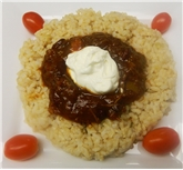 Turkey Chili with Brown Rice & Sour Cream