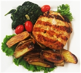 Grilled Chicken Burger with Potatoes & Spinach