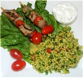 Lamb Kebabs with Tabboleah