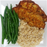 Panko Crusted Lemon Sole w Brown Rice & Stringbean