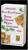 Blue Star Farms Org Stone Ground Wheat Crackers