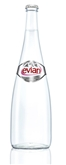 Evian Spring Water Glass Bottle (25oz.)