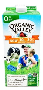 Organic Valley Fat Free Milk (64oz)