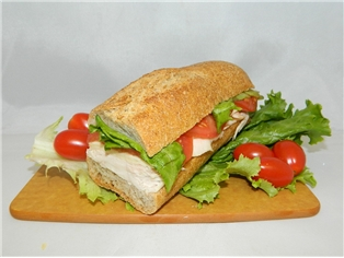 Turkey Swiss Health Combo (Half Sandwich)