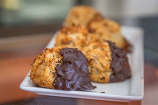 Chocolate Dipped Coconut Macaroons (6pc.)